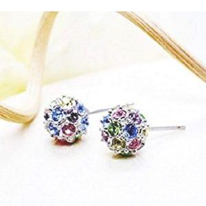 Nwt Swarovski 18k White Gold Crystal Earrings